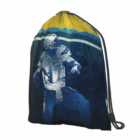 Double Strap Los Angeles Chargers Drawstring strap pack #285714 Gym Sack Promotional Party Favor
