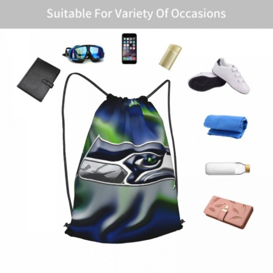 Sport Swimming Yoga Seattle Seahawks Drawstring strap pack #299477 School Bag for Travel Camping