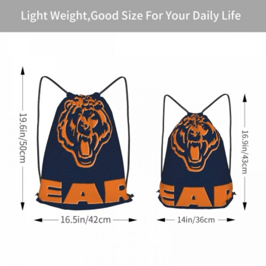 Lightweight Chicago Bears Drawstring strap pack #300742 for Students Teens Boy Girl