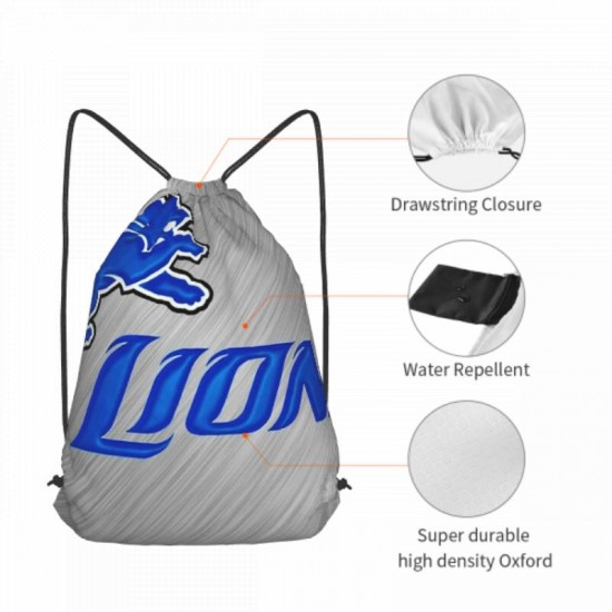Casual Outdoor Detroit Lions Drawstring strap pack #301103 for Women and Men