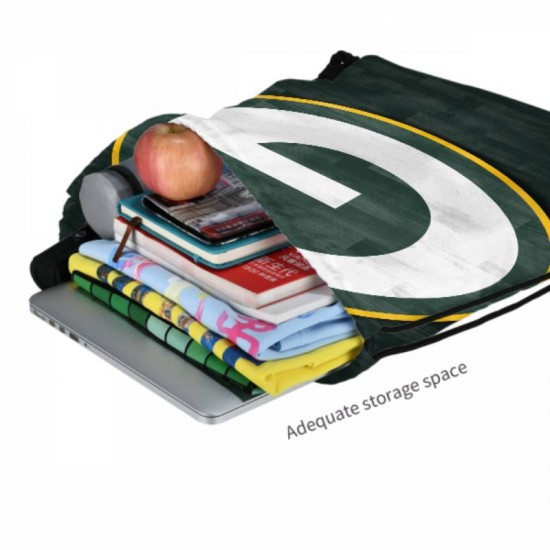 Two Size Green Bay Packers Drawstring strap pack #301843 Great for Outdoor Sports & Storage