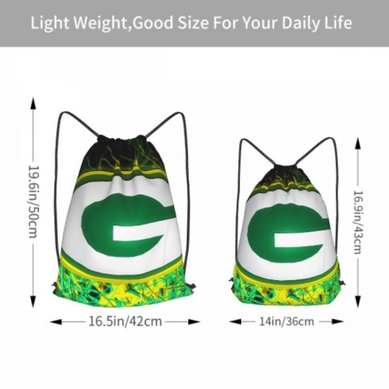 Double Strap NFL Green Bay Packers Drawstring strap pack #302140 Gym Sack Promotional Party Favor