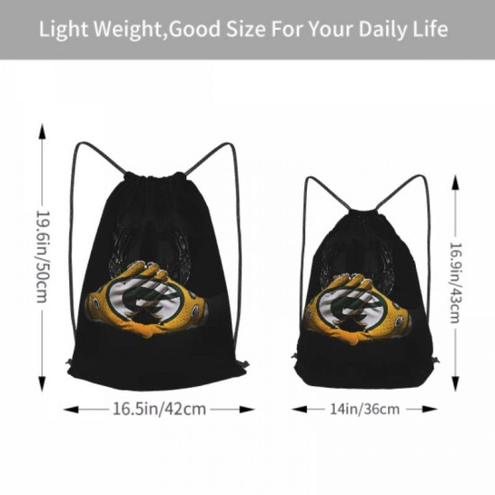 Sport Swimming Yoga Green Bay Packers Drawstring strap pack #302401 School Bag for Travel Camping