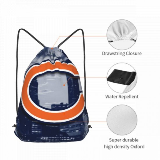 Double Strap Chicago Bears Drawstring strap pack #300402 Gym Sack Promotional Party Favor